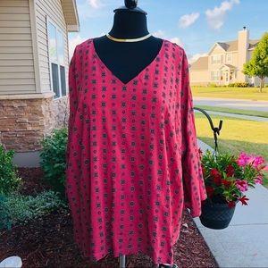Lane Bryant Coral Pink Tunic 26/28 NWT